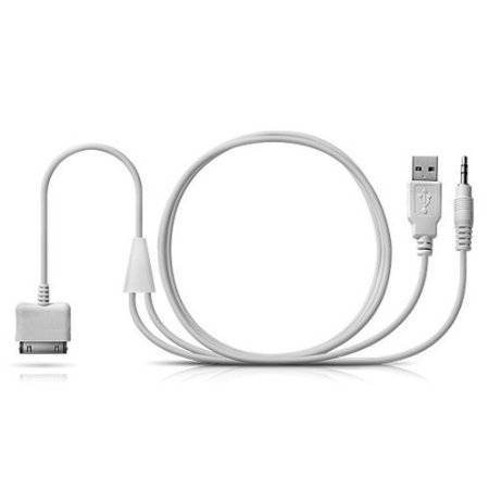 BMW iPod | iPhone 4 | iPad Y Cable Audio Aux Adapter iDrive Interface