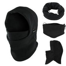 Black Multipurpose Use 6 in 1 Thermal Fleece Balaclava