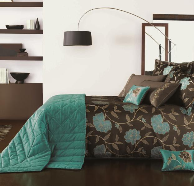 Teal Brown And Gold Bedroom BEDROOMS BATHS Pinterest