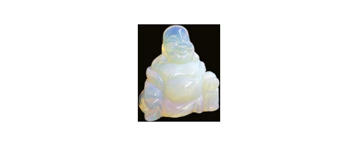 Carved Crystal Buddha