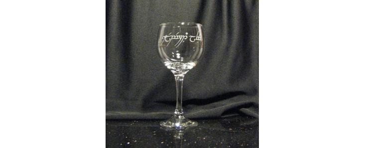 Tengwar Wine Glasses